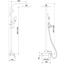 Душевая система IMPRESE GRAFIKY, ZMK041807090