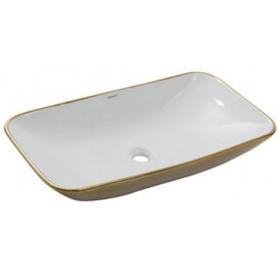 Умывальник Newarc Countertop 70 5019GW бело-золотой