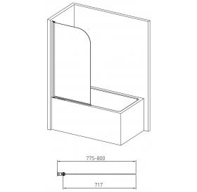 Штора для ванны Volle 10-11-100