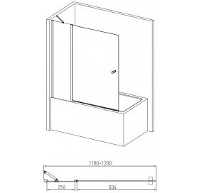 Штора для ванны Volle 10-11-101