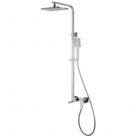 Душевая система VOLLE LEON смеситель для ванны, верхний и ручной душ 1 режим, шланг полимер 1,5м 152