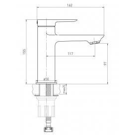 Смеситель для раковины VOLLE LIBRA хром 26 мм 15201100