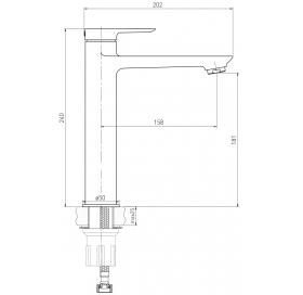 Смеситель для раковины VOLLE LIBRA хром 35 мм, 15201200