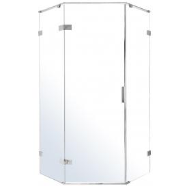 Пятиугольная душевая кабина без поддона 120*80 см распашные двери Volle Nemo 10-22-170Lglass левая