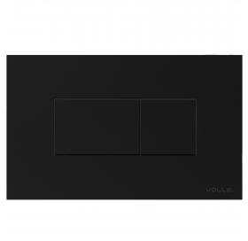 Кнопка смыва VOLLE NEO BST пластик, черная soft-touch 221818